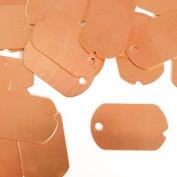 ImpressArt, Dog Tag, Military, Copper, 3.2cm x 1.9cm Stamping Blanks- 24 pc.