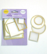 Gold Metal Rim Tags - 12 Tags