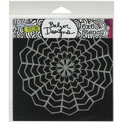 Crafters Workshop Template, 15cm by 15cm , Web Doily