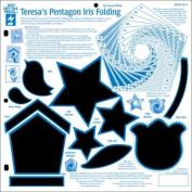 Hot Off The Press - Teresa's Pentagon Iris Folding Template