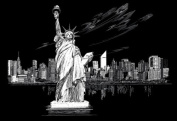 USA Wholesaler - 10969283 - Famous Places Silver Foil Engraving Art Kit 20cm x 25cm -Statue Of Liberty
