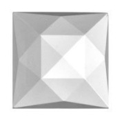 Stained Glass Jewels - 18mm Square Faceted - Crystal