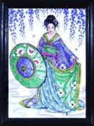 Counted Cross Stitch, Geisha, 30cm by 41cm