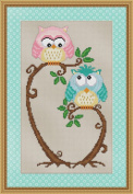 Love at First Sight Cross Stitch Pattern - Cute Hoot Owl Design