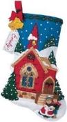 Bucilla Felt Applique Christmas Stocking Kit O' HOLY NIGHT