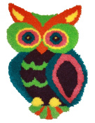 MCG Textiles 37723 Owl Shaped Latch Hook Rug Kit, 47cm by 70cm