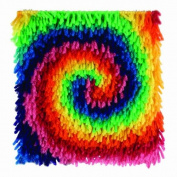 Wonderart Wonder Arts Rainbow Swirl Latch Hook Pillow Kit 8 x 8