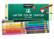 Sargent Art 22-1112 12-Count Water Colour-Crayons with Brush