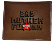 BMF Embroidered Leather Wallet Passport Edition Brown