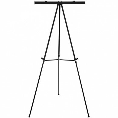 "US Art Supply® ""Boardroom"" 170cm Tall Large Jumbo Black Aluminium Flipchart Display & Presentation Easel"