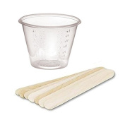 The Beading Emporium® 25 Disposable Resin Mixing Cups & Stir Sticks