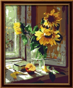 DIY PBN-paint by number Sunflowers 41cm X 50cm Frameless.