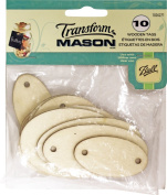 Loew Cornell, TransforMASON 10 Count Wooden Tags, Ovals
