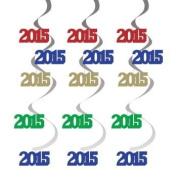 Graduation 2015 Hanging Foil Danglers 5 Per Pack