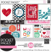 me & my BIG ideas SRK-703 Pocket Pages Scrapbook Page Kit, 30cm by 30cm , Love