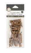 Canvas Corp CVS2179 2.5cm -by-.60cm Mini Jacobean Clothespins 25 Pieces
