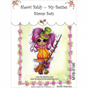 My-Besties Clear Stamps, Broom Hilda Boo, 10cm by 15cm