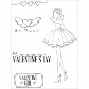 Prima Marketing Julie Nutting Mixed Media Cling Rubber Stamps, 10cm by 15cm , Love Day
