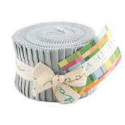 Bella Solids Zen Grey Jr Jelly Roll (9900JJR 185) by Moda House Designer for Moda