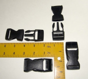 2.5cm Plastic Quick Release Buckle, Clip, Side Release, 4 Piece Set - Shipped from The USA!