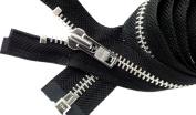 Sale 70cm Jacket Zipper (Special Custom) YKK #8 Extra Heavy Duty Aluminium Separating ~ Colour Black