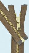 70cm Medium Weight Jacket Zipper YKK #5 Brass ~ Separating ~ 161 Light Brown
