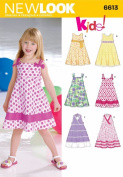 New Look Sewing Pattern 6613 Child Dresses, Size A