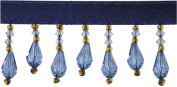 Belagio Acyrlic Beaded Trim, 15-Yard, Royal and Gold