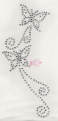 Butterfly Iron On Hot Fix Rhinestone Transfer -- Clear