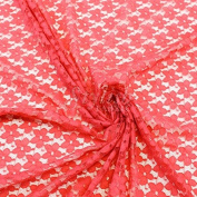 Coral Kate Floral Pattern Stretch Lace Fabric by the Yard or Wholesale - 1 Yard