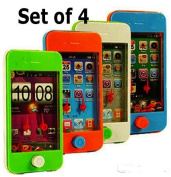 Smart Phone Ring Toss Games (Set of 4) Different Game Scenes and Colours