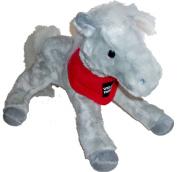 Shamrock the Grey Wells Fargo Horse 36cm long 30cm high with Logo Scarf