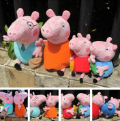 4PCS. 30cm and 19cm PEPPA the PIG FAMILY  Toys Wholesale From China