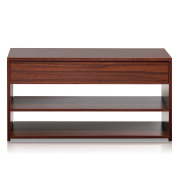 Furinno FNAJ-11046 Boyate Shoe Storage Hallway Bench, Walnut