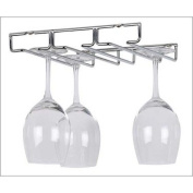 Kitchen Wine and Home Under Cabinet 6 Wine Glass Rack Holder