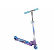 Scooters-Huffy Disney Frozen Girls' Inline Folding Kick Scooter-Durable steel frame Aluminium deck with grip tape cover for safety-Easy to fold, easy to carry-Scooter has has a weight capacity of 70kg-So much fun to ride Huffy Disney Frozen Girls' In ..