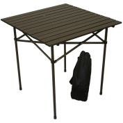 Table in a Bag TA2727 Tall Aluminium Portable Table With Carrying Bag, Brown