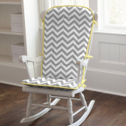 Carousel Designs Grey and Yellow Zig Zag Rocking Chair Pad