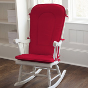 Carousel Designs Solid Red Rocking Chair Pad