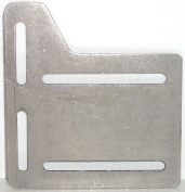 13cm Bed Frame Headboard Modification Adapter Plates , 13 ga. Steel, Horizontal and Vertical Adjustments