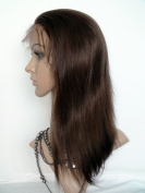 Sina Beauty high quality queen hair style full lace wig natural straight wig #4 medium brown 20cm virgin brazilian hair human wig fastshipping