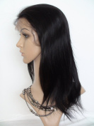 Sina Beauty 25cm Brazilian Straight Lace Full Lace Wigs #1B 100% Brazilian Virgin Hair Silky Straight Lace Full Lace Wig With Baby Hair Fastshipping