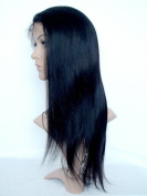 Sina Beauty High density 46cm natural straight hair wig #1 straight brazilian hair full lace wig with baby hair no shedding no tangle hair wigs fastshipping
