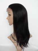 Sina Beauty High density 41cm natural straight hair wig #1 straight brazilian hair full lace wig with baby hair no shedding no tangle hair wigs fastshipping