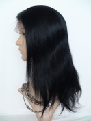 Sina Beauty High density 25cm natural straight hair wig #1 straight brazilian hair full lace wig with baby hair no shedding no tangle hair wigs fastshipping