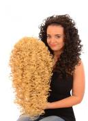 Golden Blonde Spiral Curl Half Wig Hairpiece   50cm Long Irish Dancing Style Half Wig   Tight Ringlet Curls