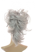 Pearl Grey Flexihair Clip On Ponytail | Bendable Clip In Hairpiece | Flexible Hairstrands