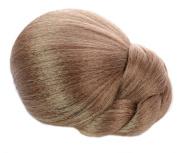 Dark Blonde/Light Brown Clip on Hair Bun | Braided Effect | Multi Tonal Colour
