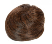 Hair By MissTresses Natural Brunette Large Top Knot Up Do Hairpiece| Wrap Effect Hair Bun | Drawstring Fitting