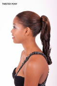 APLUS UNI TWISTER PONY Drawstring Ponytail Extension Hair Synthetic Wavy Hairpiece Colour#1BF. Black/Auburn